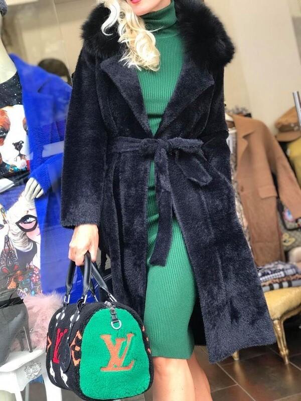 Кашмирено палто в черно