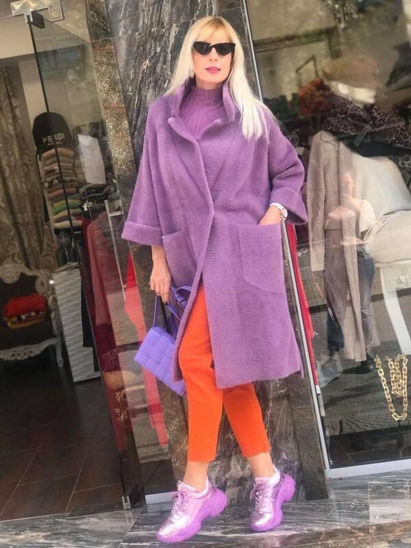Палто в лилав цвят