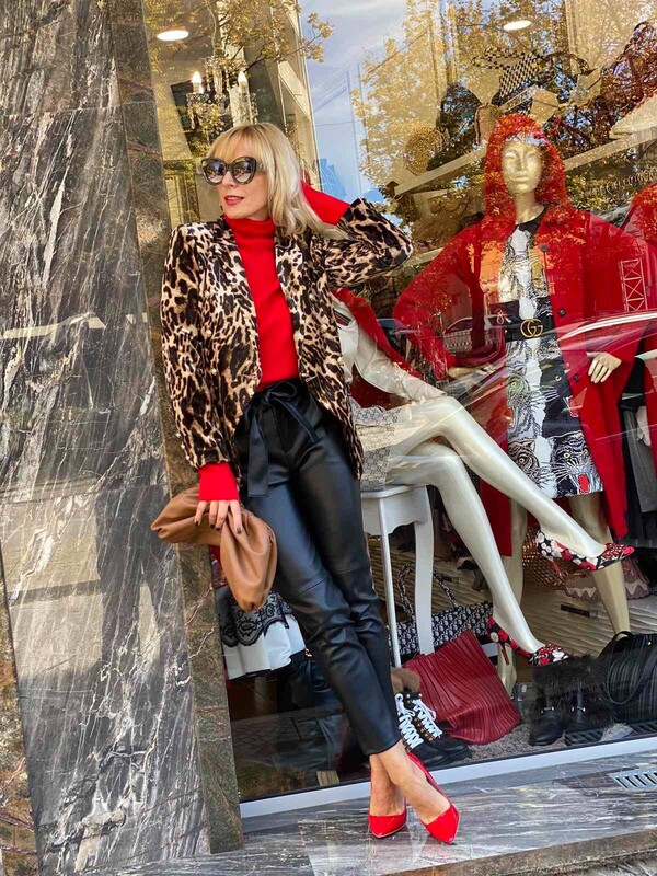 Сако с леопардова щампа