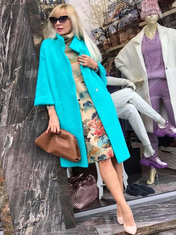 Палто в ментов цвят