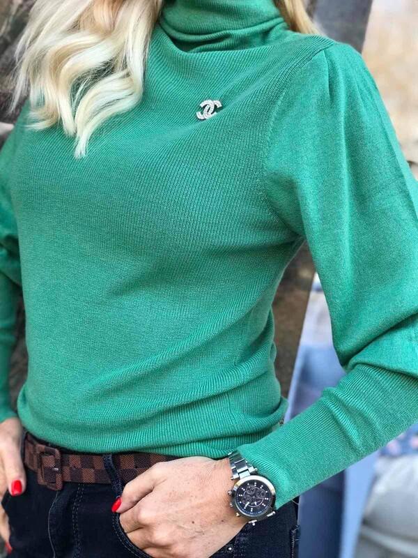 Поло лукс в зелено