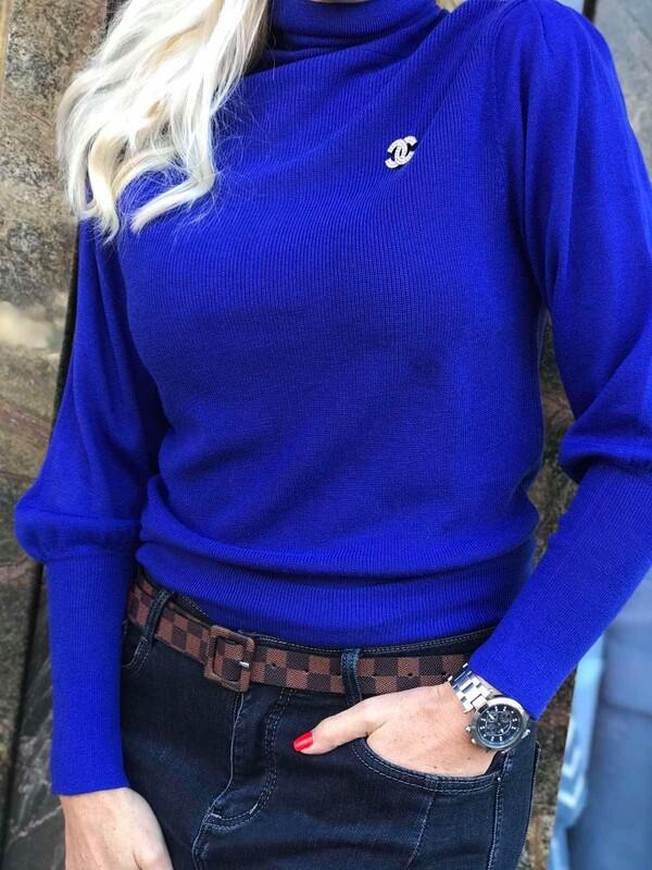 Поло лукс в синьо