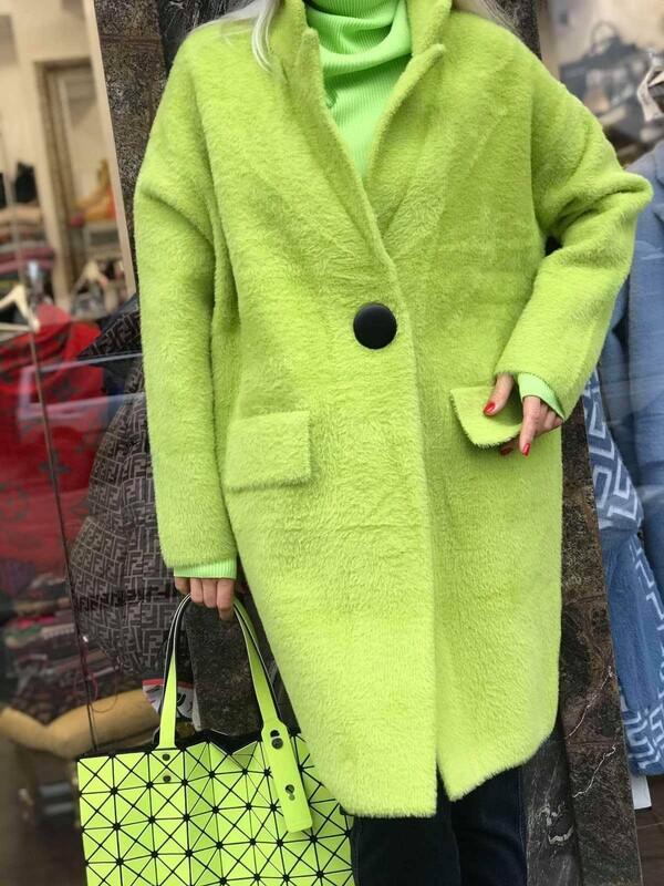 Жилетка в неоново зелено с копче