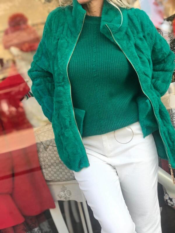 Жилетка тип яке в зелено