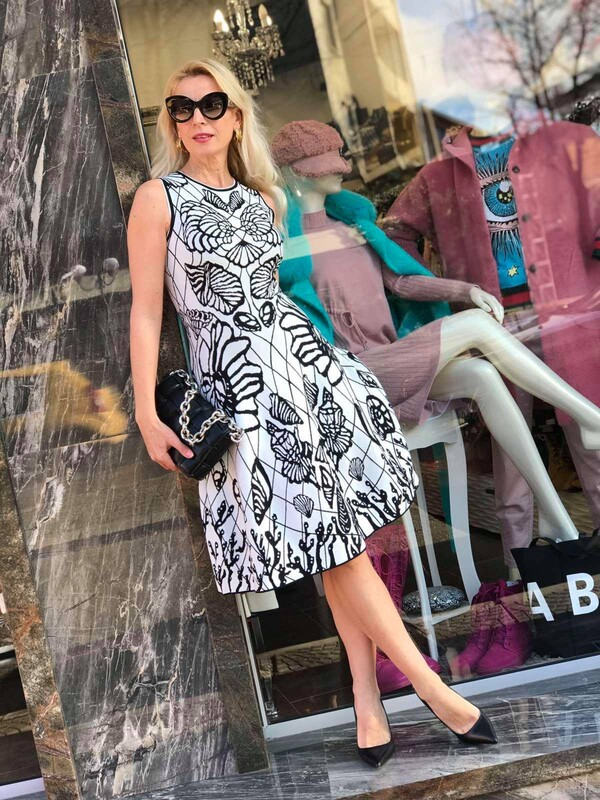 Графична бандажна рокля
