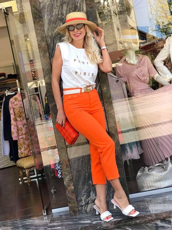 Панталон в неоново оранжево
