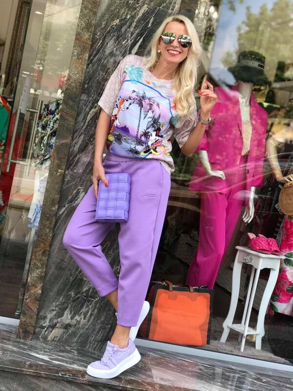 Кежуал панталон в лила