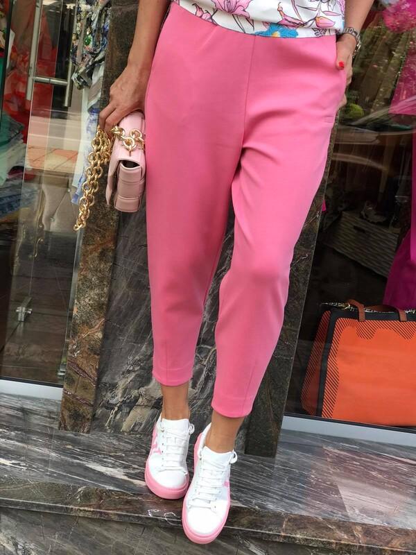 Кежуал панталон в розово