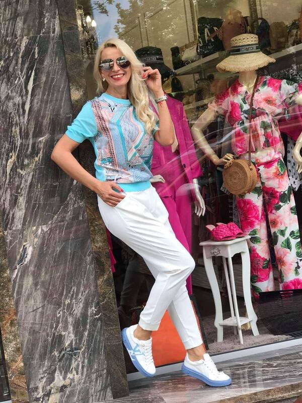 Летен панталон в бял цвят