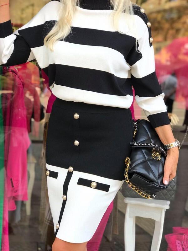 Комплект лукс в черно и бяло